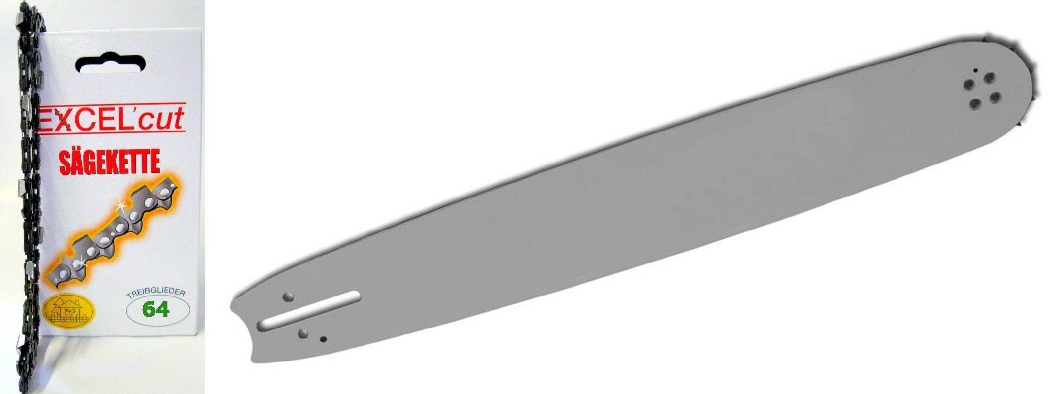 """Schwert 4 Ketten passend für Jonsered 435 38cm 325/"""" 64TG 1,3mm Sägekette chain"""